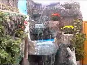 Relief Decoration & waterfalls and painting - YouTube