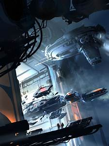 Salvage ships coming to dock, #spaceopera #scifi ...