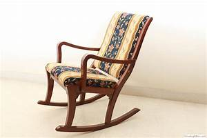 Image of Upholstered Rocking Chair » Home Decorations Insight