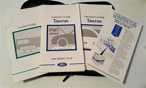 1998 Ford Taurus Owners    Service    Audio Guide Manual