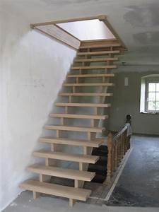 Escalier Droit Bois : escalier en bois menuiserie dasnois belgique france ~ Premium-room.com Idées de Décoration