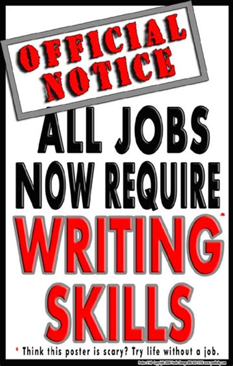 motivational writing poster  jobs  require writing