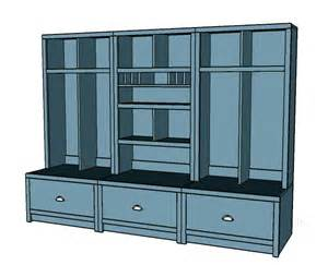 Entryway Locker with Bench Plans