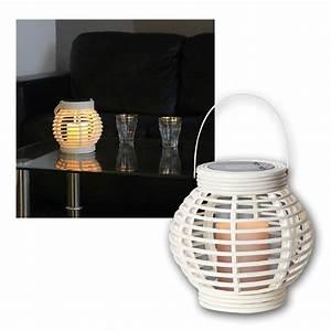 Laterne Mit Led Kerze : solar laterne wei mit led kerze weidenoptik ~ Orissabook.com Haus und Dekorationen