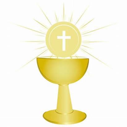 Chalice Communion Holy Symbol Gold Vector Eucharist