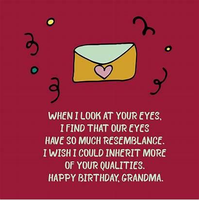 Birthday Happy Grandma Quotes Wishes Sayings