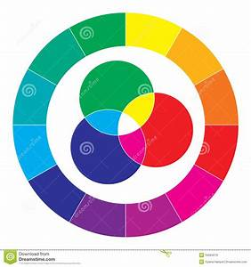 Color Spectrum Abstract Wheel  Colorful Diagram Stock Vector