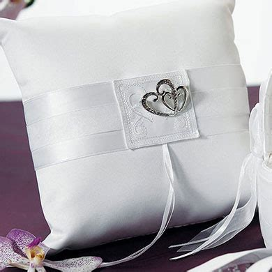 classic square ring pillow weddingstar
