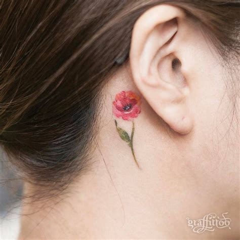 beguiling flower tattoo   ear easy flower tattoos