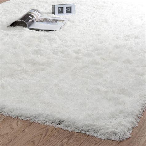 tapis blanc poils long maisons du monde pickture