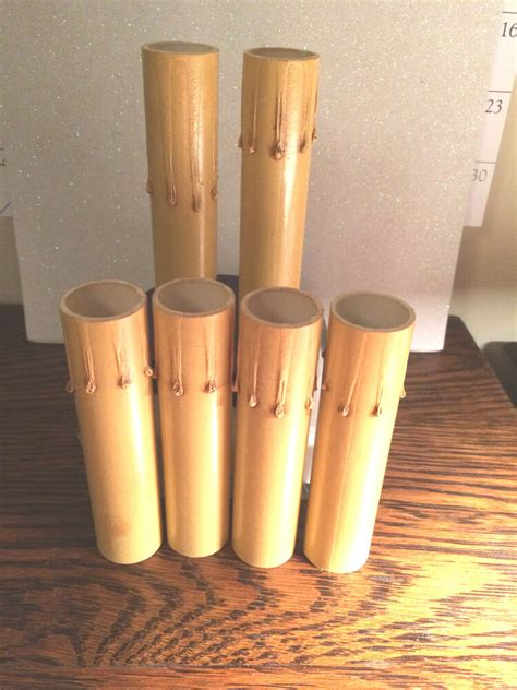 chandelier candle socket covers lot of 6 fiber gold drip candle cover chandelier l