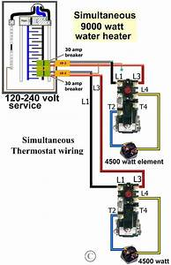 Wiring Diagram For 120 Volt Hot Water Heater Element