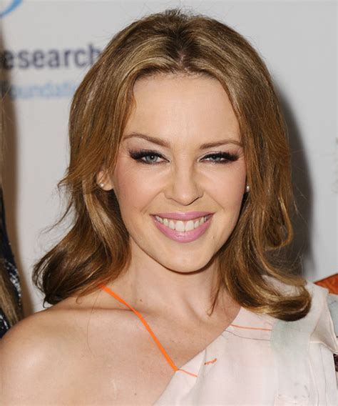 Kylie Minogue Medium Straight Casual Hairstyle   Dark