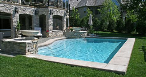 Backyard Pool Yards by Pool Spa Design Minnesota Yardscapes