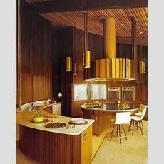 Midcentury Modern Round Kitchen  Luv This Design  Dark
