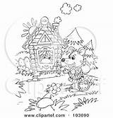 Clipart Wandering Mouse Outline Coloring Royalty Rf Illustration Bannykh Alex Wanderer Frog Stick Frogs Carrying Illustrations sketch template