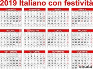 Calendario italiano 2019 con festività Buy this stock