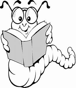 Bookworm Black And White Clipart - Clipart Suggest