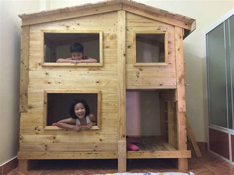 outstanding pallet kids bunk beds  playhouse