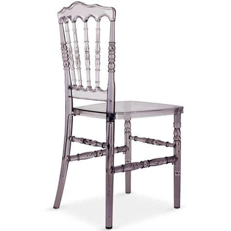 chaise plexi pas cher lot de 4 chaises napoleon plexi transparent fumé achat
