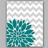 Teal And White Chevron Wall | 570 x 570 jpeg 42kB