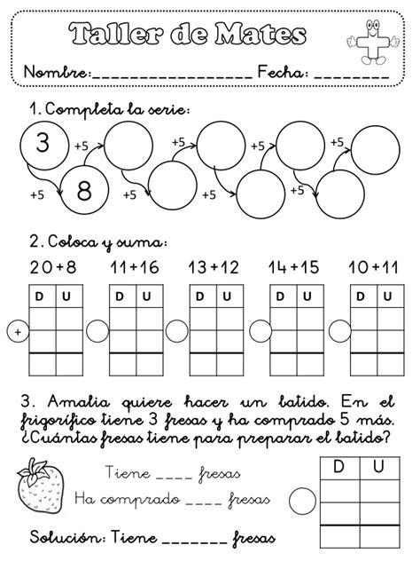 Ficha Matemáticas 1º Primaria