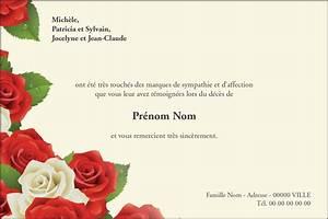 Carte Grise Apres Deces : roses rouges et blanches cartes de remerciement cartes d c s ~ Maxctalentgroup.com Avis de Voitures