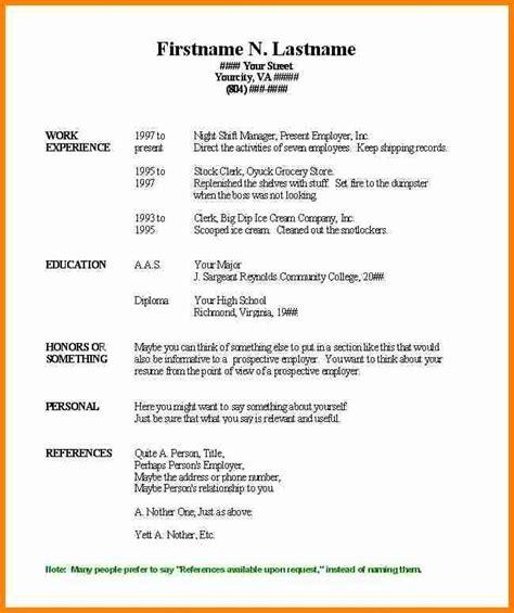 microsoft word resume sles fre basic resume template free 28 images pin 12 basic