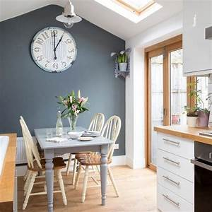 decorating with white grey feature wall big clocks and With kitchen colors with white cabinets with sticker love you