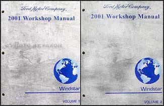 how to download repair manuals 2001 ford windstar auto manual 2001 ford windstar repair shop manual 2 volume set original