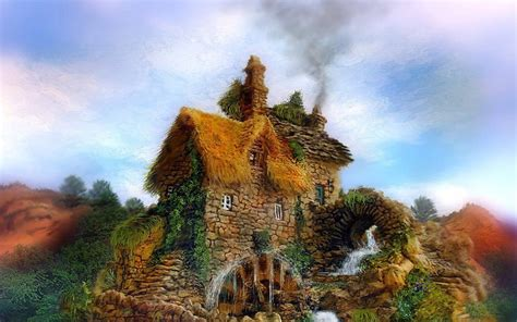 Haus Wasser & Natur Hintergrundbilder  Haus Wasser