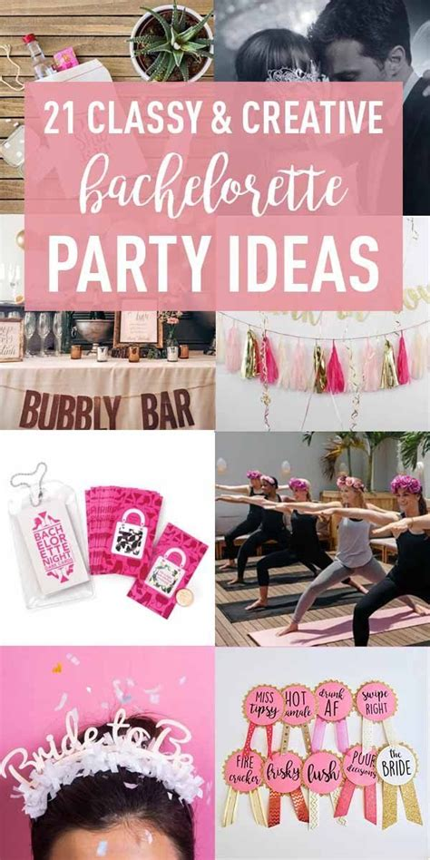 creative bachelorette party ideas  bride