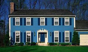 Blue exterior house paint color quecasita for House outside blue colours