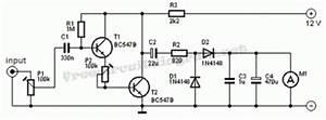 simple vu meter analog circuit circuit diagram world With vu meter 1