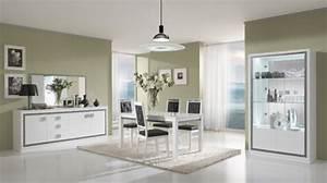 Meuble Salle à Manger Blanc : thema blanc salle manger ~ Teatrodelosmanantiales.com Idées de Décoration