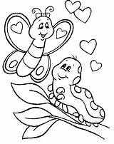 Caterpillar Hungry Coloring Pages Very Printables Printable Getcolorings sketch template
