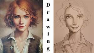 Draw And Shade A Face  From A Reference