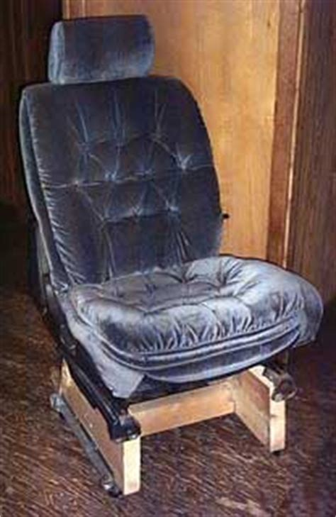 converting a car s front seat for use around the house