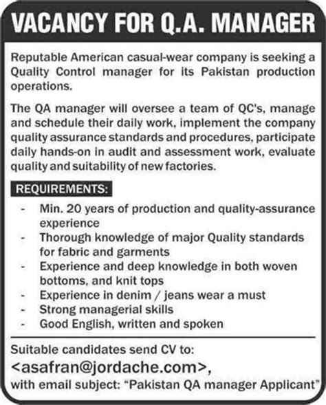 Garments Quality Assurance Manager Jobs In Pakistan 2013. Technical Skills Cv Examples Template. What Is A Masseuse Therapist Template. Free Printable Family Reunion Invitations. Resume Job Objective Statements Template. Problem Solving Skills For Resumes Template. Receptionist Duties And Responsibilities For Template. Print Your Own Cards Template. Black Business Card Template