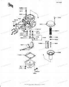 Kawasaki Motorcycle 1982 Oem Parts Diagram For Carburetor Parts  Kz1000 J2