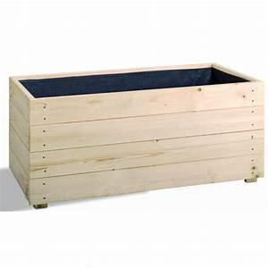 Bac En Bois Pour Plantes : bac plantes carr essencia en bois autoclave fsc ~ Dailycaller-alerts.com Idées de Décoration