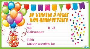Invitation Anniversaire Fille 9 Ans : carte invitation anniversaire fille 8 ans creer carte ~ Melissatoandfro.com Idées de Décoration