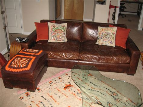 Maxwell Sleeper Sofa by Maxwell Leather Sofa Vintage Moroccan Azilal Rug