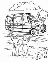 Coloring Sheets Ambulance Acadian Activity Service Sprinter Downloadable Teacher Library Resources sketch template