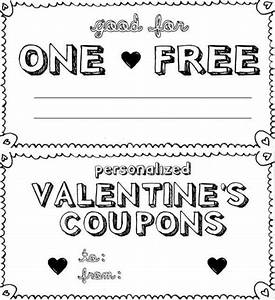 personalized valentine39s day coupon book boyfriend With custom coupons free template