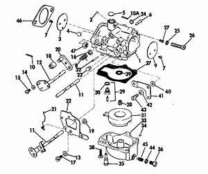Johnson Carburetor Parts For 1974 70hp 70esl74m Outboard Motor