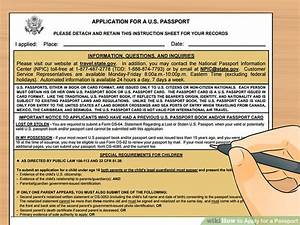 how to apply for a passport with pictures wikihow With documents you need to get a passport