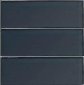 Dark Gray Glass Subway Tile in Storm Modwalls Lush 4x12