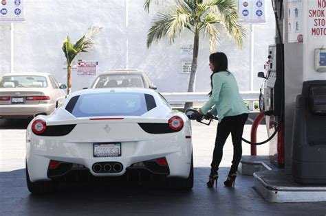kim kardashian fills   ferrari celebrity cars blog