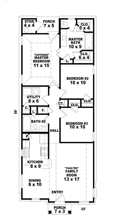 hannafield narrow lot home plan   house plans